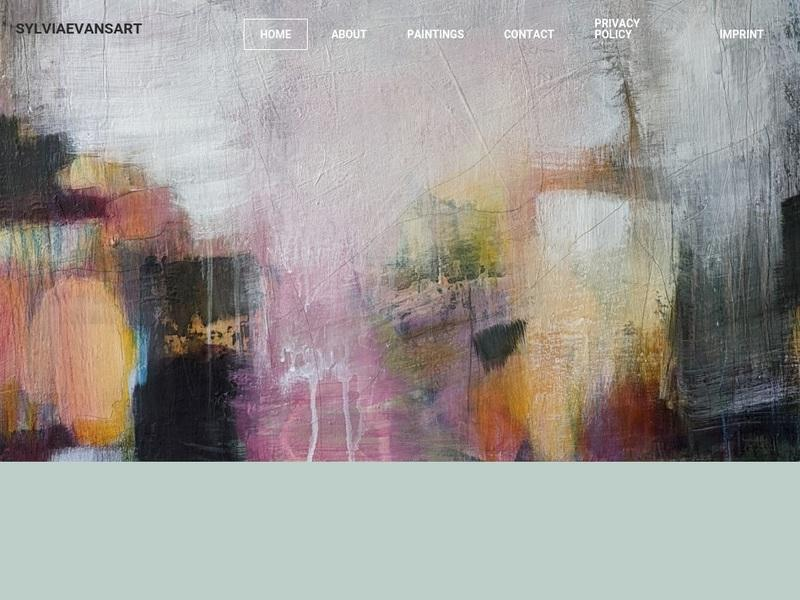 Screenshot von www.sylviaevans-paintings.com